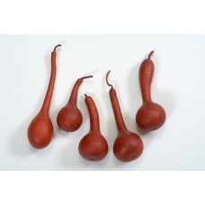 "GOURD DIPPER 2"" x 6"" Red Leather (BULK)"
