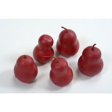 "GOURD PEAR 2.5"" Red Leather (BULK)"