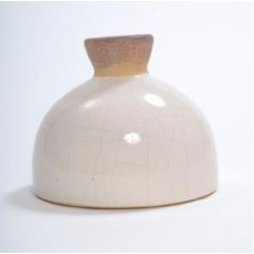 "CERAMIC VASE 7"" x 7"" x 6"" Beige/Brown- CLOSEOUT SALE !!"