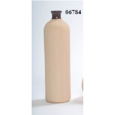 "CERAMIC VASE 4"" x 4"" x 15"" Beige- CLOSEOUT SALE !!"