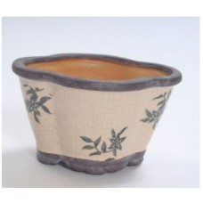 "CERAMIC VASE 8"" x 6"" x 5"" Beige- CLOSEOUT SALE !!!"