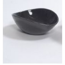 "CERAMIC VASE 9"" x 8"" x 3"" Shiny Black- CLOSEOUT SALE !!!"