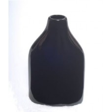 "CERAMIC VASE 7"" x 4"" x 12"" Shiny Black- CLOSEOUT SALE !!"